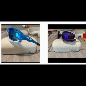 Oakley racing jacket NEW 2 pair sunglasses purple